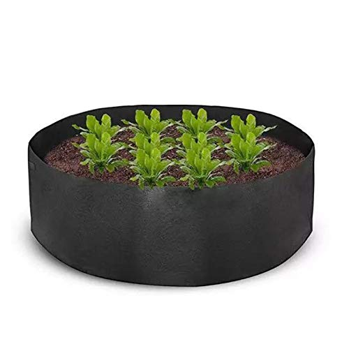 Yard Grow Bags Large Capacity, Non-woven Plant Fabric Pots, Flower Vegetable Containers Outdoor Garden planting bag, for Herb Plants Salad Tomato