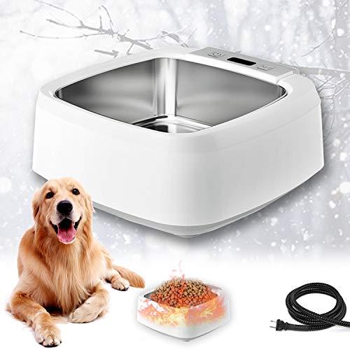 EnweHiko Beheizbarer Futternapf für Hunde Draußen, Thermostatisch Beheizbarer Hundenapf, Haustier Beheizter Trinknapf für Hunde/Katzen/Kaninchen/Hühner im Winter