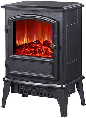 XYSQWZ Elektrischer Kamin Elektrischer Wandkamin Heizkamin Hoher Wirkungsgrad und schnelle Heizung Überhitzungsschutz Tragbar (Farbe: Tastenversion)