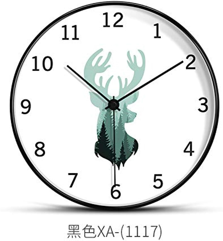 diseños exclusivos Reloj Simple Simple Simple y Reloj de Parojo Sala de Estar Individual Creativo Moda Hogar Colgar Dormitorio Silencioso Reloj Sin Marco Dibujo Miedo a Europa, 8 Pulgadas, Elk E  oferta especial