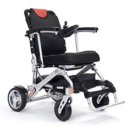 MYYINGELE Elektrischer Rollstuhl, Ultraleichter Faltbarer Elektrischer Rollstuhl 19Kg, Tragbarer Medizinischer Roller, Lithium Batterie Bis Zu 25Km, Kann 150 KG Unterstützen
