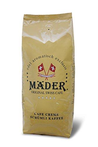 Mäder Edel Arabica, Espresso-Kaffee ganze Bohne, 1000 g