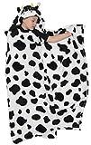 Funziez! Cow - Manta con capucha para niños (negro/blanco, talla única)