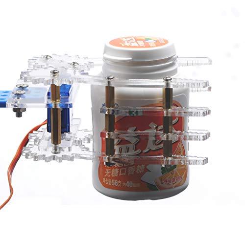 SMALLJUN Roboter Greifer, Acryl Robot Klaue Manipulator Arm Sg90 Servos Smart Greifer Für Arduino,