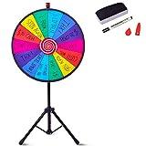 COSTWAY 24 ' Ruleta de Juego con Trípode Altura Ajustable con Pluma Borrador de Pizarra Wheel of Fortune para Fiesta Juguete Rueda
