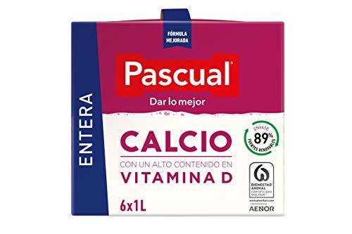 Pascual Leche Calcio Entera, Pacl de 6 x 1000ml