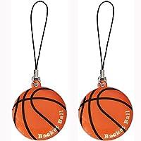 バスケ グラシアス バスケットボール型のスポーツクリーナーストラップ2個セット