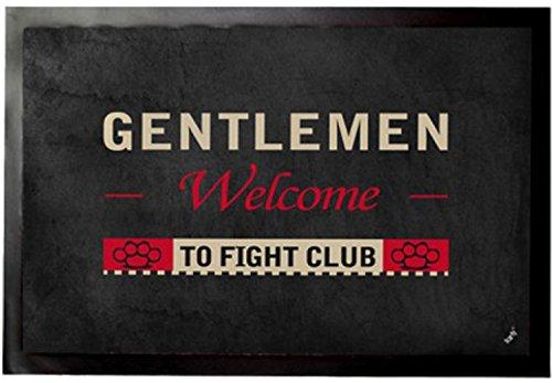 1art1 El Club De La Lucha - Gentlemen Welcome To Fight Club Felpudo Alfombra (60 x 40cm)
