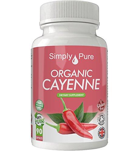 Bio Cayenne Vegane Kapseln x 90, 500 mg, 100% Natural Soil Association zertifiziert, Glutenfrei, Exklusiv bei Amazon