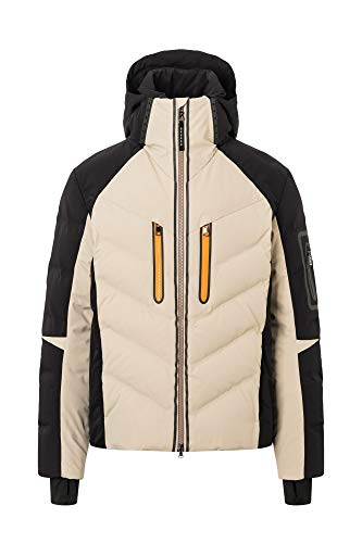 Bogner Sport Mens Felian-D II Colorblock-Beige, Herren Jacke, Größe 48 - Farbe Black