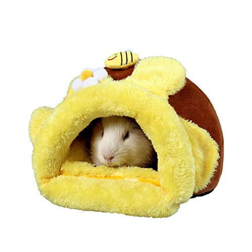 Lowest Price! GOTDCO. Plush Pet Sleeping Bag for Hamsters Super Warm Pet Nets for Small Animals Fluf...