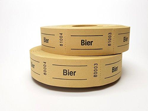 Wolf & Appenzeller 601012 Gutscheinrolle Bier gelb