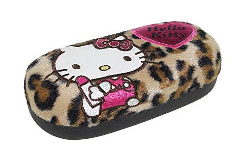 großes Brillenetui mit Plüsch - Hello Kitty