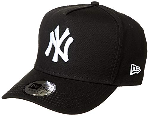 New Era 12018973 DF CTN New York Yankees Baseball Cap (Unisex) - ブラック、スノーホワイト