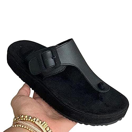 GANE Zapatillas de Espiga para Mujer 2021 Verano para Mujer Nuevo Bizcocho...
