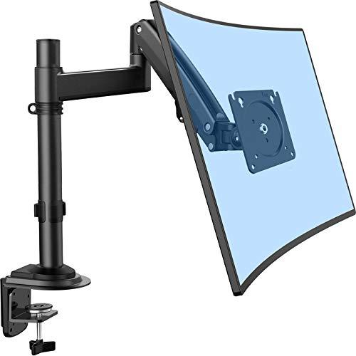 ErGear 13-35 Zoll/12KG Monitor Halterung Ultraweitbildschirm Schwerer Gasdruckfeder Vollbereichs-einstellbar Monitor Arm Neigung +85°/-30° Schwenkung 180° Drehung 360° VESA 75/100mm