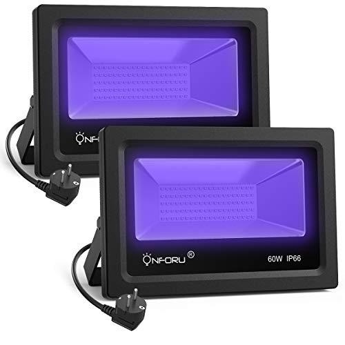 Onforu Lot de 2 Projecteur UV LED 60W, Lumière Noire IP66 Im