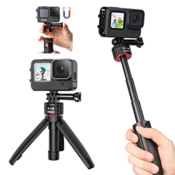 MT-31 Extendable Gopro Selfie Stick Tripod Go Pro Stand Designed w Quick Release System Portable Vlog Go Pro Handle Tripod Mini Hand Grip for Gopro Hero 9/8/7 DJI Osmo Action Camera Accessories