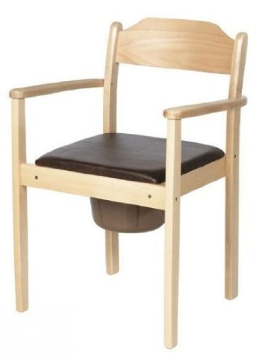 Toilettenstuhl/WC-Stuhl, Holz, stapelbar