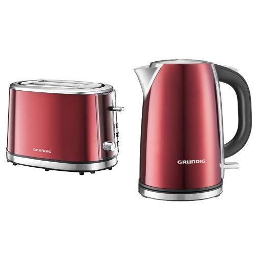 Grundig TA 6330 Toaster Red Sense & Grundig WK 6330 Wasserkocher red Sense