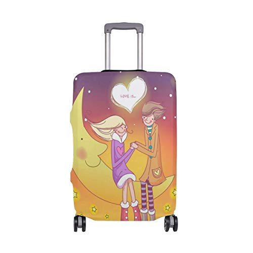 Funda de Equipaje de Viaje IUBBKI, Protector de Maleta de Amor romántico...