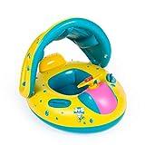 Sklepee Flotador de natación de bebé, natación bebé Inflable, Nadar bebé Flotador con Dosel de sombrilla Desmontable y Asiento Seguro, Anillo de natación para bebés Infantiles Juguetes