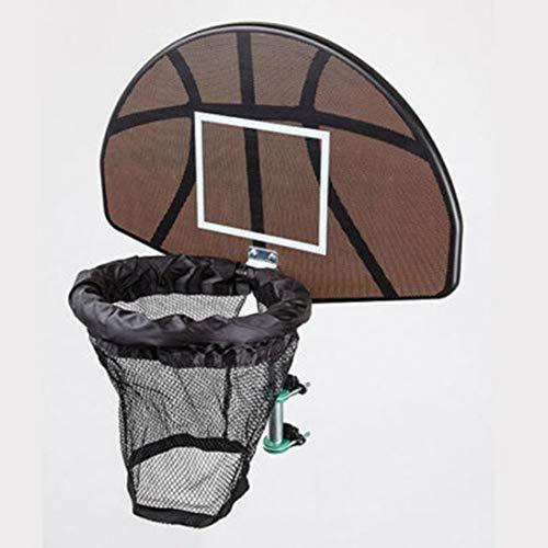 XINFULUK Universelles Design Langlebig Trampolin Basketballkorb Ring Rückwand Ball Set Basketballkorb Supplies - Schwarz