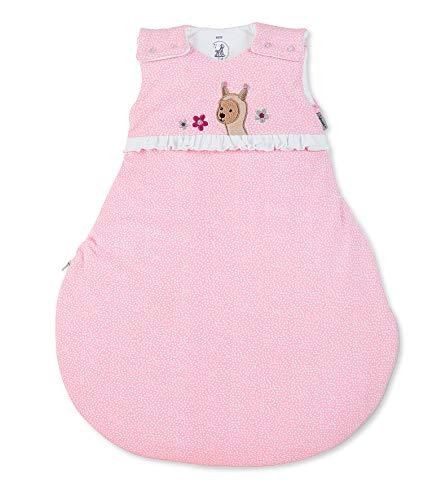 Sterntaler Schlafsack Kuschelzoo für Babys, Reißverschluss und Knöpfe, Größe: 50/56, Rosa