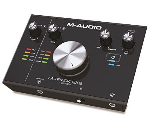 M-Audio M-Track 2X2 - Interfaccia Audio USB a 2 Canali con Risoluzione 24Bit/192Khz, Pacchetto Software Incluso con Pro Tools First, Plugin Air, Strike, Xpand!2 e Mini Grand