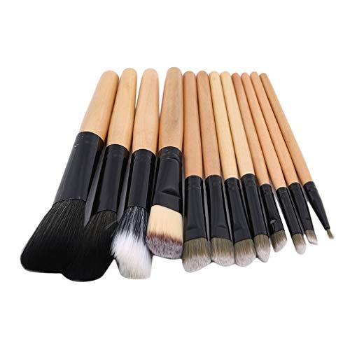 Faliya 12 pcs Pinceaux de Maquillage Multifonctionnel Pro Cosmétique Poudre Fondation Fard À Paupières Eyeliner Lèvres Maquillage Brosses Ensemble avec Sac