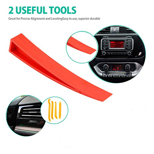 11pcs Essential Automotive Car Tool Kit with Air Wedge, Long Reach Grabber, Multifunctional Tool Set for Cars Trucks