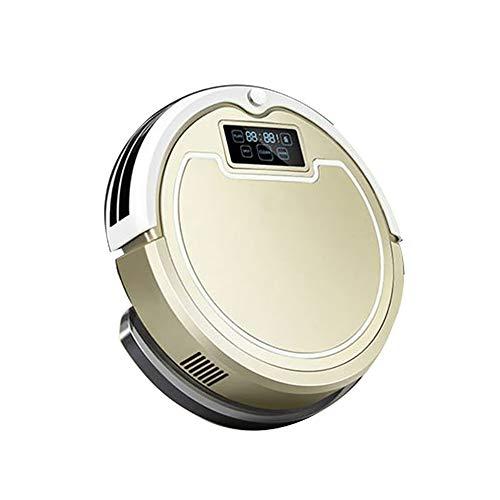 LK-HOME Robot Aspirador, Robot De Barrido Húmedo Y Seco De Carga Automática, con Control Remoto, Aspirador Automático para Pelo De Mascotas, Alfombras De Pelo Medio Y Pisos De Madera Dura,Oro
