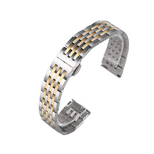 Uhrenarmband Verstellbares Edelstahlnetz Ersatz Uhrenarmband Atmungsaktiv Und Wasserdicht Schnellverschluss,17mm