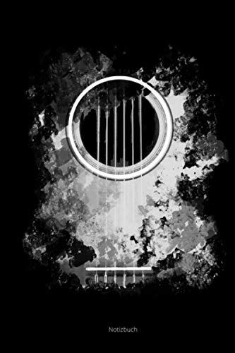 Notizbuch: A5 Kariert Gitarre Distressed Cover Akustische Gitarre Geschenk Gitarristen