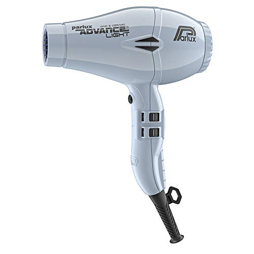 Parlux Advance Light Asciugacapelli Professionale, Ionic & Ceramic, 2200 W , Grigio (Ghiaccio)
