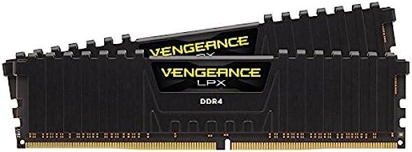 Corsair CMK16GX4M2Z2400C16 Vengeance LPX 16GB (2x8GB) DDR4 2400 (PC4-19200) C16 1.2V Internal Memory for AMD Ryzen and Int...