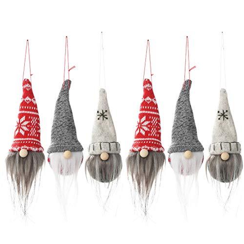 Muñeca de Navidad, juego de 6 gnomo de Papá Noel escandinavo Tomte sueco