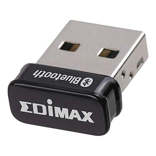 Edimax Bluetooth Adapter for PC, BT 5.0 EDR Nano USB Dongle, Fast Transfer, Bluetooth Headphones Headset Speakers Keyboard Mouse, Win 8/10, Linux: 2.6.32 - 5.3 (Fedora & Ubuntu only), BT-8500