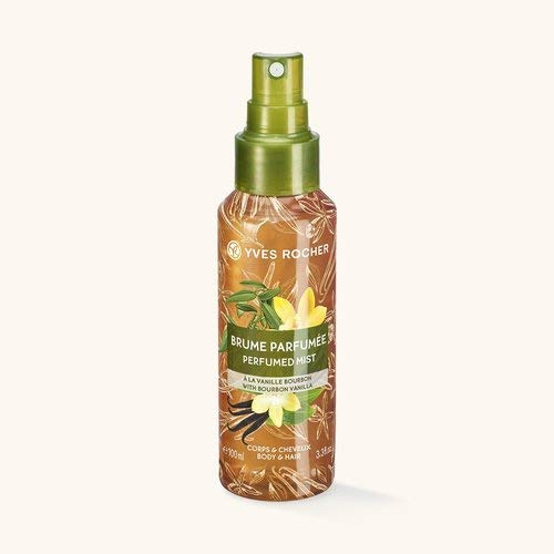 Yves Rocher LES PLAISIRS NATURE Duftspray Bourbon-Vanille, Erfrischungsspray für Körper & Haare, 1 x Pump-Flacon 100 ml
