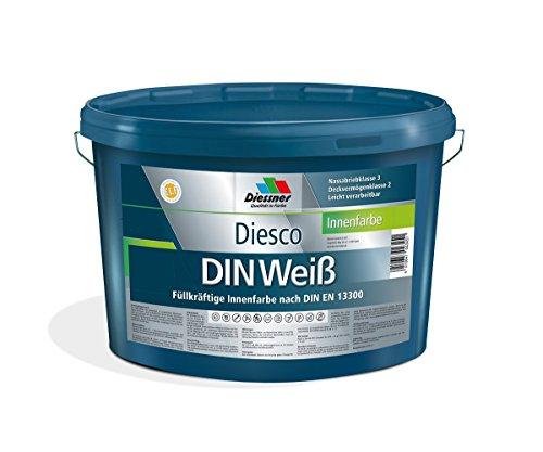 Diesco DIN Weiß Wandfarbe Innenfarbe (5 Liter)