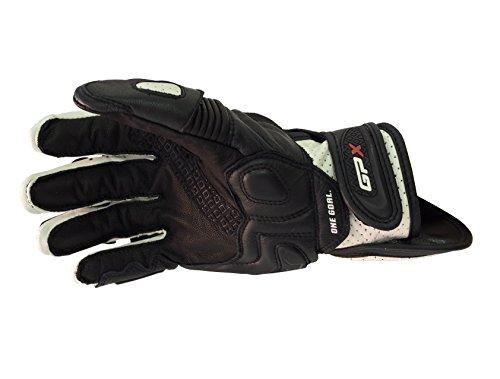 Alpinestars GPX Leather Short Motorbike Motorcycle Gloves Black/White
