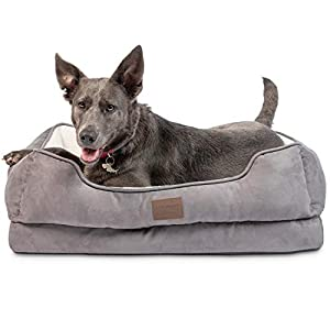 Pet Craft Supply Premium Orthopedic Dog Bed – Sofa Couch Lounger Style Bed – Perfect Medium Large Dog Bed for Arthritis Relief Supportive Bolsters and Machine Washable