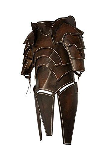 Dunkelelfen - Deal, LARP Lederrüstung mit Untergewand und Armschienen Samurai Mittelalter Größe M oder L (M)