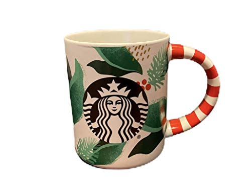 Starbucks 2019 Holiday Siren Coffee Cup with Candy Cane Handle - 12 Fl Oz - Limited Edition