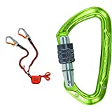 Climbing Technology Hook-It Slider, Set Ferrata Unisex – Adulto, Arancio/Grigio, Taglia Unica & Lime SG, Moschettone Unisex-Adulto, Verde, Taglia Unica