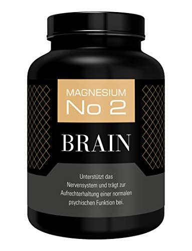 Hocheffizient Magnesium Brain 700 mg - 180 Kapseln vegan | 3 Monatsvorrat | 1400 mg/Tagesration | laborgeprüft | ohne Zusatzstoffe | made in D. | 9 Leben