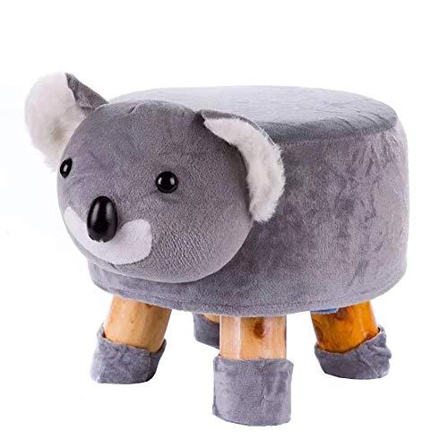 Sillones Nubao Los niños Animal heces sólidas de Madera de la Sala Dormitorio Zapatos Sofá heces por estrado de Dibujos Animados Cambio de heces, Perro (Color : Koala)