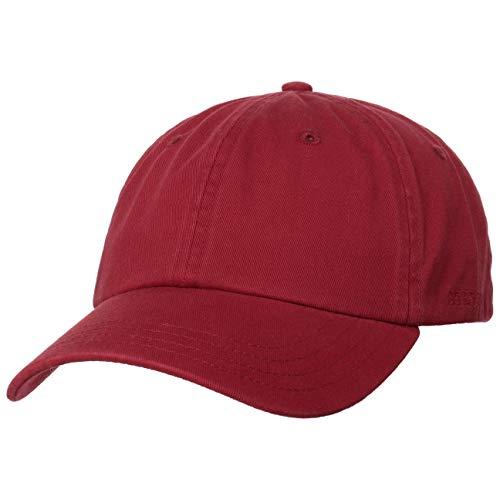 Stetson Rector Basecap - Cap für Damen/Herren - Sonnenschutz-Cap aus Baumwolle (UV-Schutz 40+) - Baumwollcap größenverstellbar (55-60 cm) - Baseballcap Sommer/Winter Bordeaux One Size