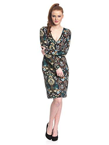 Vive Maria Damen Hippy Boheme WrapDress Kleid, Mehrfarbig (Black Allover), 44 (Herstellergröße: XXL)