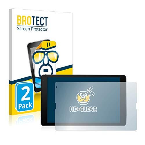 BROTECT Schutzfolie kompatibel mit Medion Lifetab E10420 (2 Stück) klare Bildschirmschutz-Folie